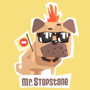 afbeelding van het hondje mr stopstone